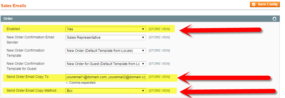 Magento, Transactional Emails, Sales Emails, How to Send Yourself a Copy of Order Confirmation Emails in Magento
