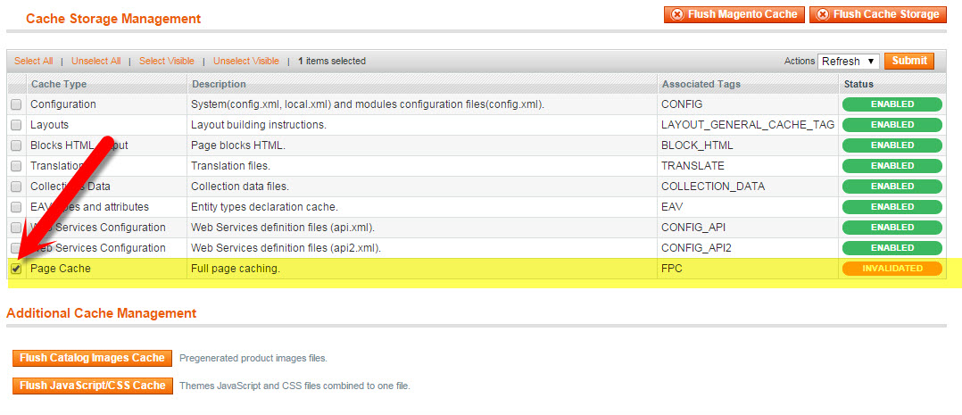 Cache Management in Magento | How to Update the Copyright Year in Magento