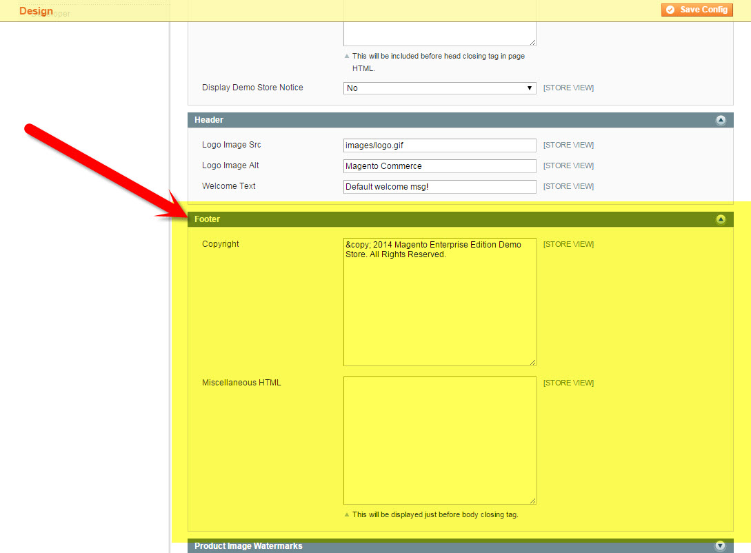 Footer Section in Magento Configuration | How to Update the Copyright Year in Magento