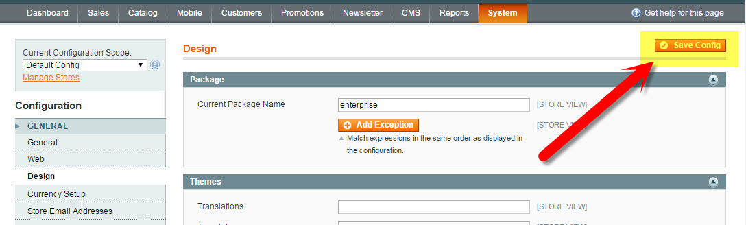 Save Configuration Changes in Magento  | How to Update the Copyright Year in Magento